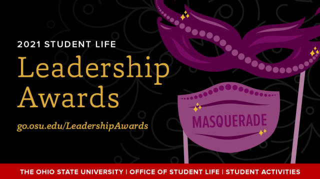 Leadership Awards 2021 banner with masquerade branding and theme