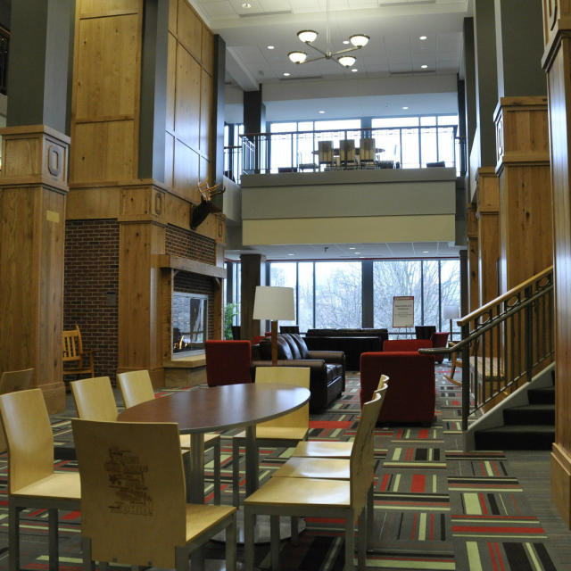 The lounge in the Keith B. Key Center for Student Leadership and Service