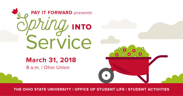 Spring Into Service 2018 will be held on March 31 in the Ohio Union