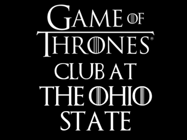 Game of Thrones Club at The Ohio State University logo